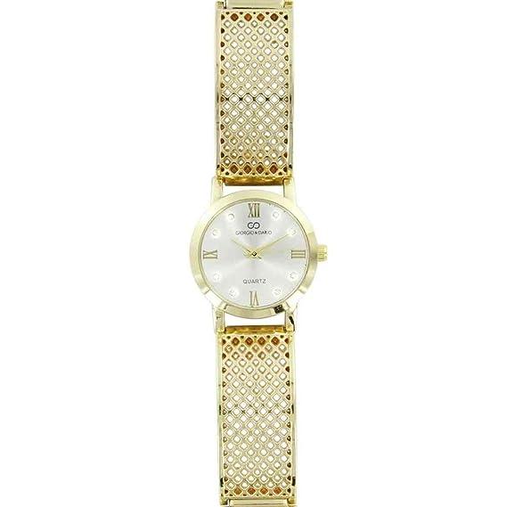 Magnifique reloj mujer acero dorado brillantes Gorgio