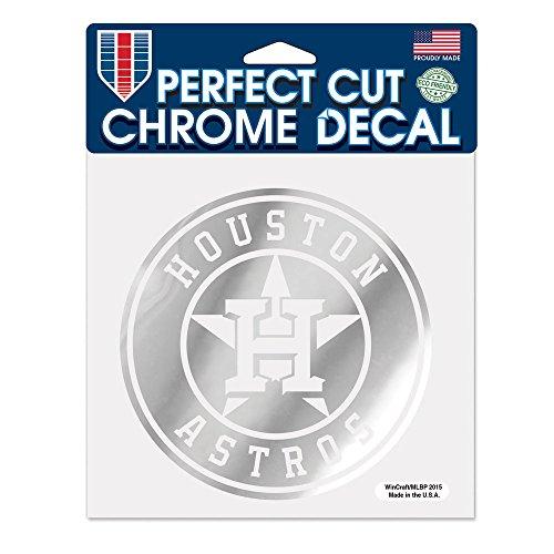 MLB Houston Astros Perfect Cut Chrome Decal, 6 x 6-Inch (Astros Window)