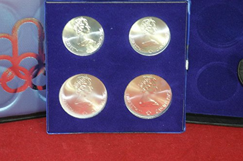 CA 1976 Canada Olympic Sterling Silver 4 Coin Set in Original Box Uncirculated