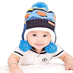Pretty Baby Beanies,Dealzip Inc Baby Beanies Blue Unisex Baby Boys Toddler Kids Child Winter Warm Pom-pom Hat Beanie