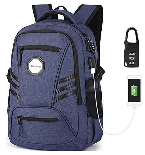 Travel Outdoor Computer Backpack Laptop bag 15.6''(blue) - 2