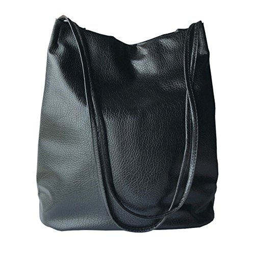 Totes Shopper Bucket Hobos Womens Bags Purse Shoulder Leather Black Bag wXXrxI