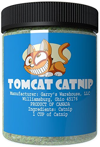 Tomcat Catnip - Essential for Refillable Cat Toys like Toy Mice or Sprinkle on a Scratch Pad (1 Cup)