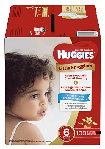 Huggies Little Snugglers Baby Diapers, Size 6 , 100 Count,
