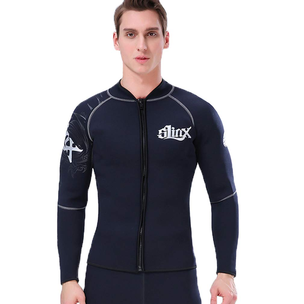 Nataly Osmann Adult's 3mm Wetsuits Jacket Long Sleeve Neoprene Wetsuit Top for Men Women by Nataly Osmann