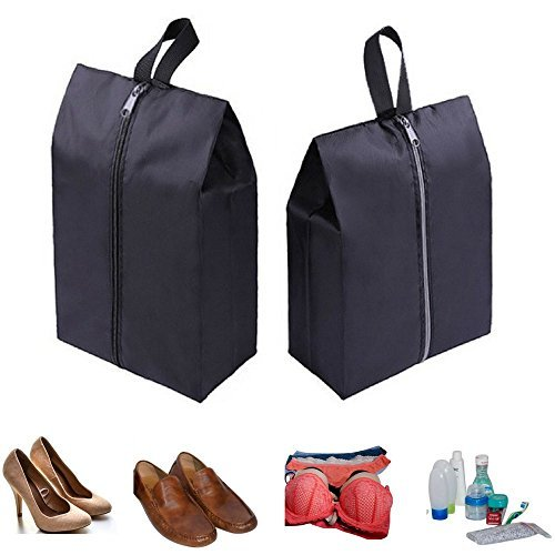 Two Pack Travel Shoe Bags | Gym Clothes, Makeup, Toiletries | Luggage Organizer from Miozul