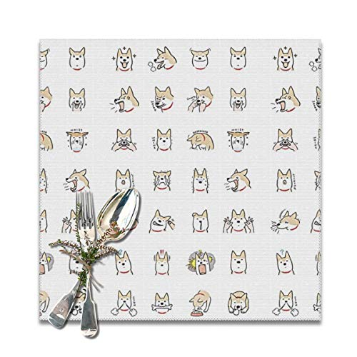 BUN Placemats Square Set of 6 for Dining