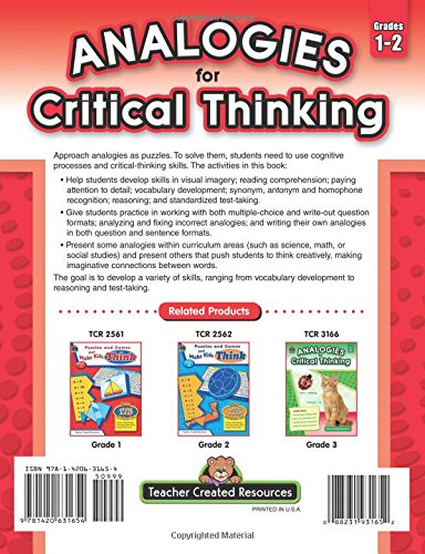 Analogies for Critical Thinking, Grade 1-2: Ruth Foster ...