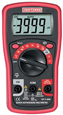 Craftsman Digital Mini Multimeter 3482344 82344
