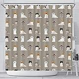 Breedink Pekingese Dog Pattern Print Shower Curtains