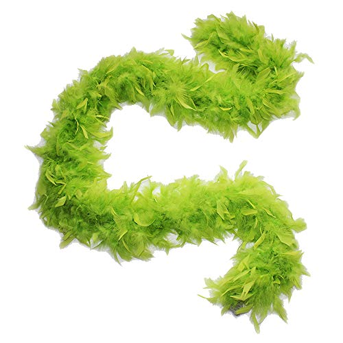 Cynthia's Feathers 80g Chandelle Feather Boas over 30 Color & Patterns (Lime -