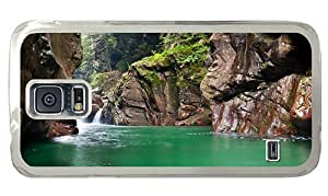 Hipster Samsung Galaxy S5 Case carrying Mountain River PC Transparent for Samsung S5