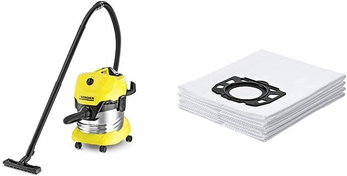 Kärcher WD4 Premium - Aspirador en seco y húmedo, 1000 W, 20 l + ...