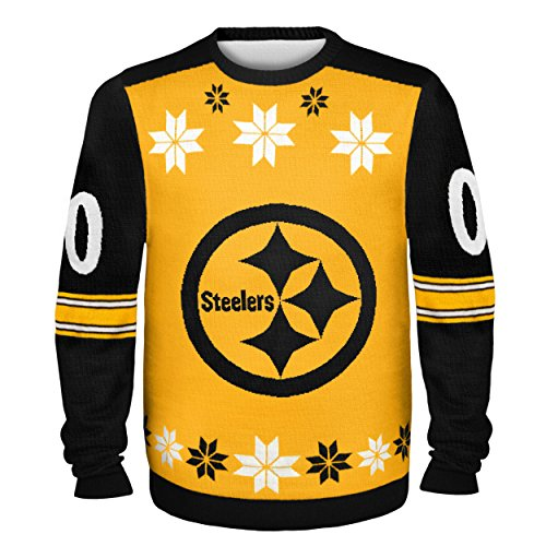 03acaf9ac56 Amazon.com   Pittsburgh Steelers Almost Right But Ugly Sweater Large    Sports   Outdoors