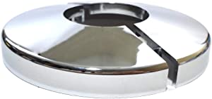 """Puri Tech Replacement Escutcheon Chrome Snap-On Snap Tite Handrail & Ladder Base Trim Cover for Swimming Pools and Spas Silver Color 2"""" Opening"""