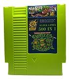 500 in 1 NES Game Cart Video Game Multi Super Games (Green Cartridge)