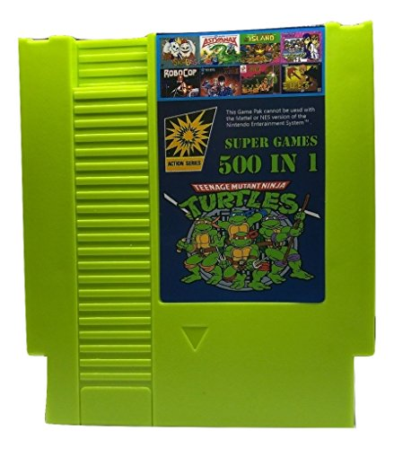 500 in 1 NES Game Cart Video Game Multi Super Games (Green Cartridge)