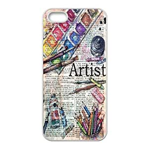 Jumphigh Art Newspaper IPhone 5,5S Case, {White}