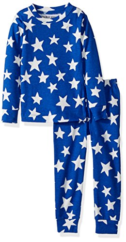 Little Blue House by Hatley Boys' Little Long Sleeve Printed Pajama Set, Glow in The Dark hop Star, 3