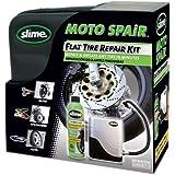 Slime 10915 - Juego de neumáticos para reparar neumáticos de motos y compresor (237 ml