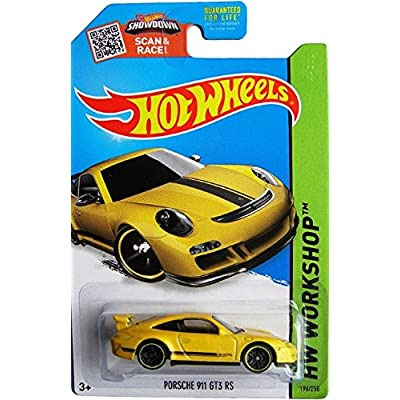Hot Wheels 2015 HW Workshop Porsche 911 GT3 RS 196/250, Yellow: Toys & Games
