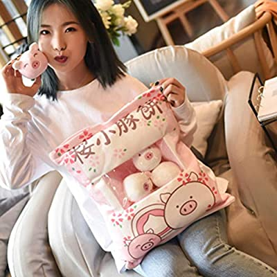 Uscyo Plush Toy, Snack Bag Plush Toy Super Soft Cute Animal Pillow Throw Pillow with 8 Pieces of Mini Dolls Plays Within The Unique Gift for Children: Home & Kitchen