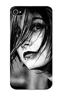 Fireingrass High Quality Shock Absorbing Case For Iphone 4/4s-women Piercings Monochrome