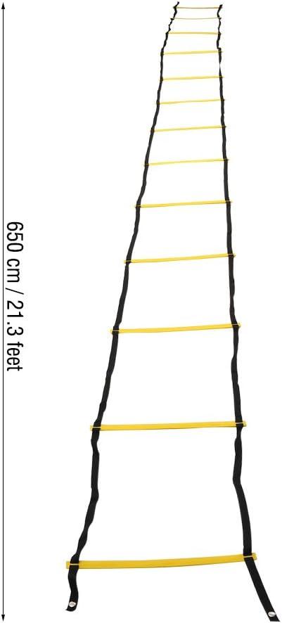 13-Sprosse Langlebiges Speed Training Agility Ladder Footwork-Trainingsger/ät f/ür Fu/ßball Sugoyi Geschwindigkeitsleiter Speed Agility Ladder Fu/ßball und Sport