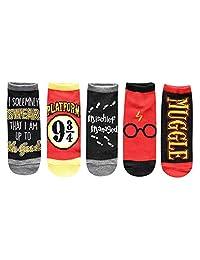 Harry Potter Solemnly Swear Muggle Platform 9 3/4 5 Pack calcetines tobilleros