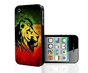 Yellow, Green, and Red Rasta Lion Hard Snap on Phone Case (iPhone 5/5s)