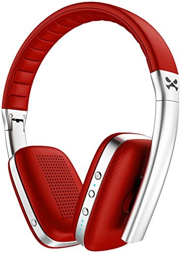 Ghostek Rapture Series Bluetooth Wireless Headphones with Microphone Red