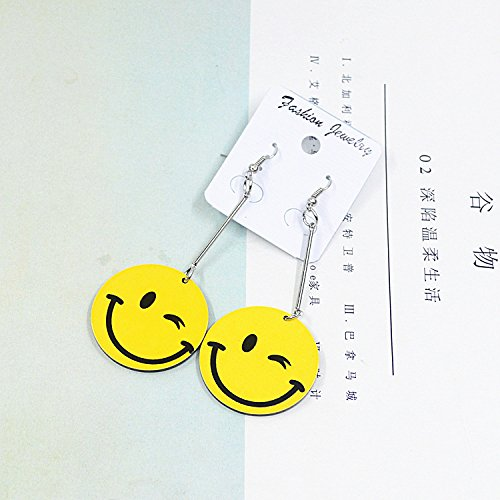 Generic Acrylic influx of women in Europe and America minimalist fashion personality long section of acrylic earrings earrings expression