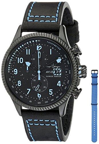 AVI-8 Mens Hawker Hunter Stealth Watch - Black/Blue