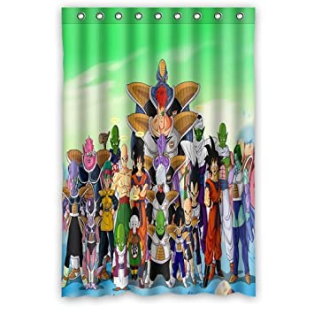 Personalized Custom Fashion Design Japanese Animation Dragon Ball Z Shower Curtain Bathroom Decoration Mildew Waterproof Polyester