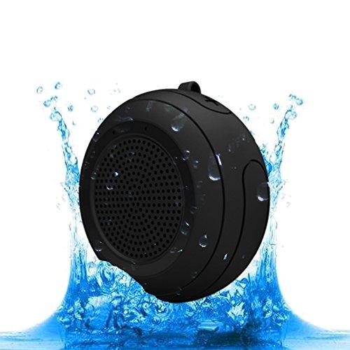 CYBORIS IPX7 Waterproof Outdoor Bluetooth Speaker Swimming Pool Floating Portable Mini Speakers Wireless 5W with Microphone & TWS for Beach, Bathroom, Home, Shower (Black) (Waterproof Bluetooth Speaker Swimming Pool Shower Beach)