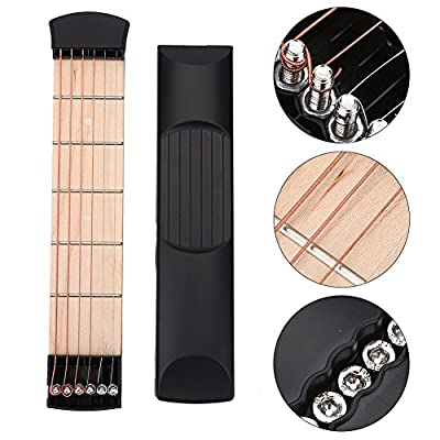 Pocket Guitar, Guitar Finger Exercise, 6 Fret Guitar Chord Practice Tool for Beginners