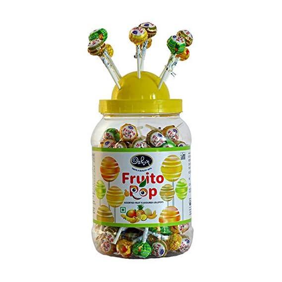 Oshon FruitoPop Rich & Tasty Juicy Assorted Flavoured Striped Lollipops