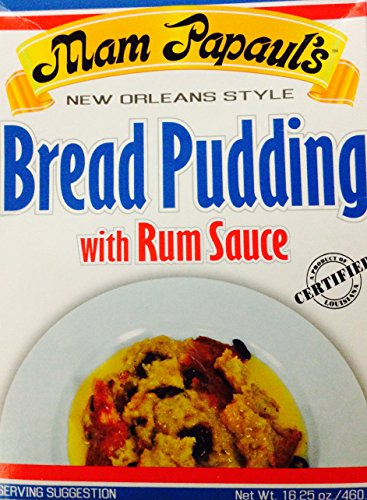 Mam Papaul's Sauce Bread Pudding With Rum Sauce (Pack of 3) New Orleans - Rum Sauce