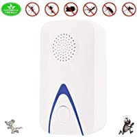 LuckLife Ultrasonic Pest Repeller, Non-Toxic, Humans and Pets Safe Pest Control Ultrasonic Repellent, Electric Pest Control Repellent for Bed Bugs, Cockroach, Rat, Spider, Flea, Ant