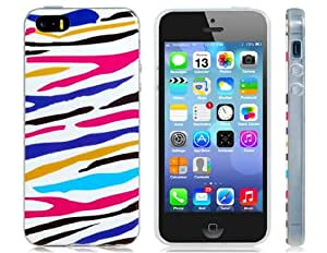 Colorful Striped Print TPU Rubber Case for iPhone 5S/5