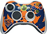 Skinit NFL Chicago Bears Xbox 360 Wireless Controller Skin - Chicago Bears Retro Logo Design - Ultra Thin, Lightweight Vinyl Decal Protection