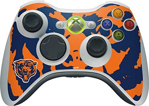 Skinit NFL Chicago Bears Xbox 360 Wireless Controller Skin - Chicago Bears Retro Logo Design - Ultra Thin, Lightweight Vinyl Decal Protection by Skinit