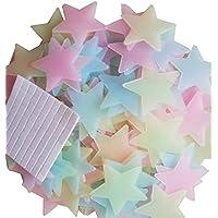 Amaonm® 100 Pcs Colorful Glow in the Dark Luminous Stars...