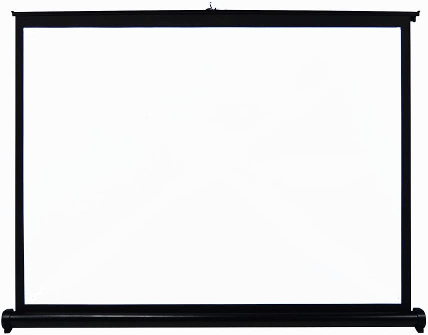 UNIC ポータブル プロジェクタースクリーン 床置き型 吊り下げ ホームシネマ スクリーン (50インチ-4:3)