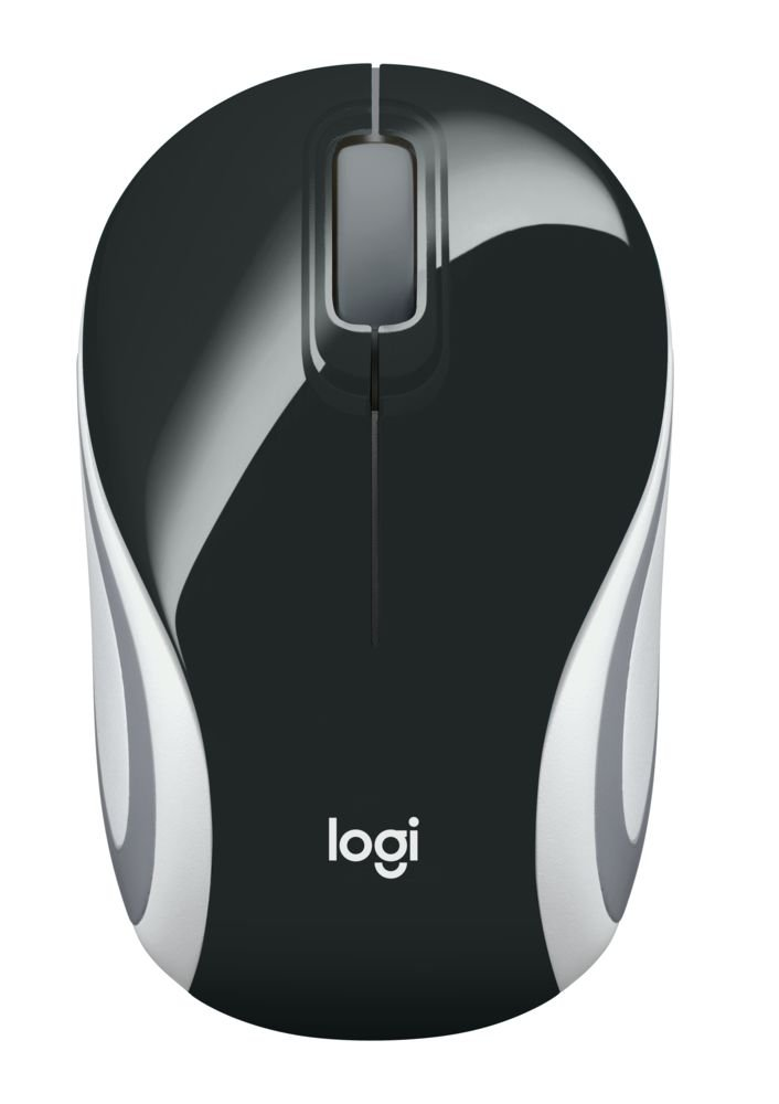 Logitech M187 Wireless Mini Mouse for Windows, Mac and Linux - Black