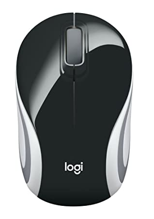 Logitech M187 Wireless Mini Mouse  Black  Mice