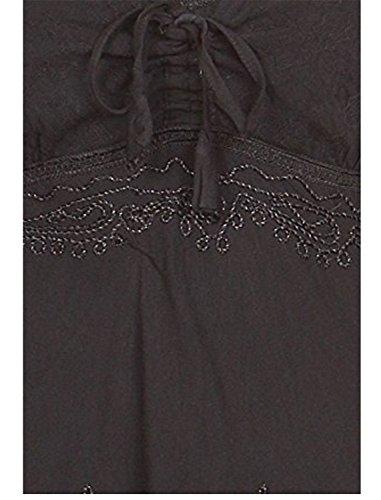 SHUNLIU Stein gewaschen Rayon gestickte verstellbaren Spaghettiträgern mittel Länge Kleid