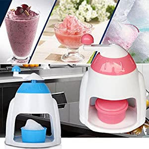 AMAZZANG-Summer Ice Candy Crusher Shaver Snow Cone Maker Manual Machine Home Kitchen