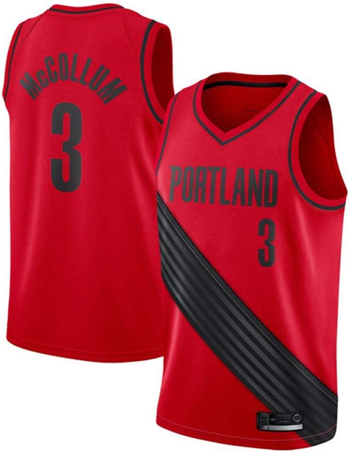 AMJUNM Men/'s Women Jersey Portland Trail Blazers 3# McCOLLUM Jerseys Breathable Embroidered Basketball Swingman Jersey