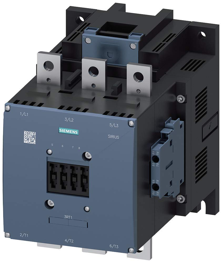 2 NO AC 40-60Hz Conventional Coil 2 NC Auxilliary Contacts 3 Poles Screw Terminals S12 Frame Size 400 AC3 Amp Rating DC 110-127V 3RT10756AF36 Siemens 3RT10 75-6AF36 Motor Contactor